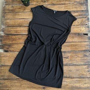 Eileen Fisher Black Twist Waist Dress